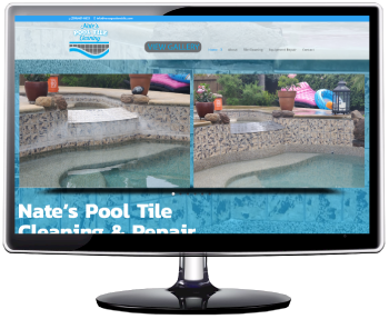 Website for Nate's Pool Tile Cleaning in Modesto, Ca