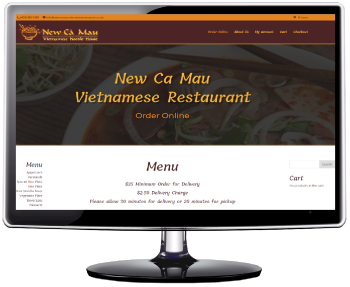 Website for New Ca Mau Vietnamese Restaurant in San Jose, Ca